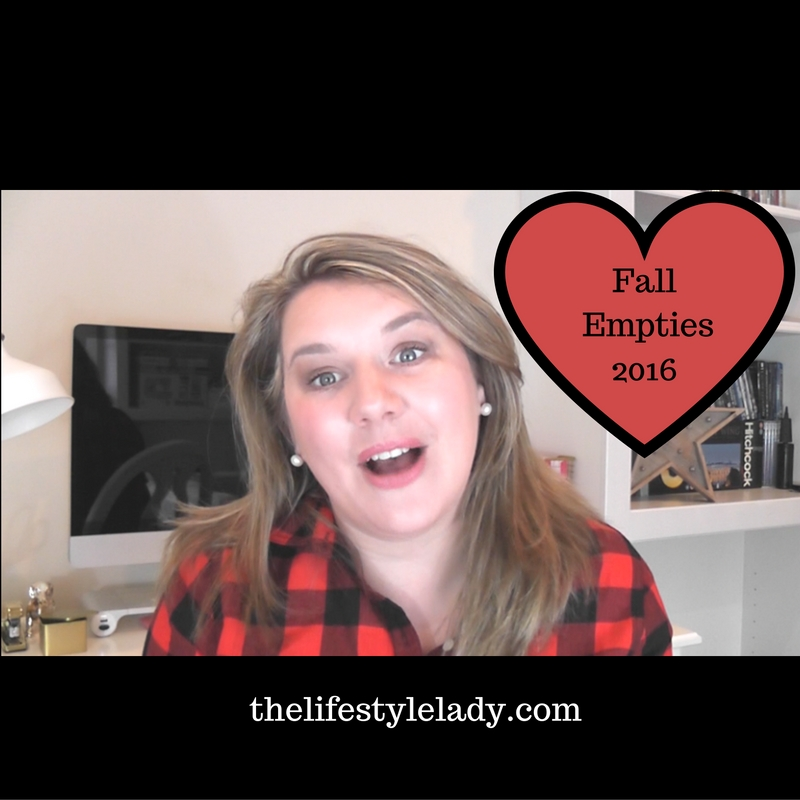 Product Empties Beauty & Skincare – Fall 2016